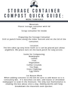 graphic about Printable Compost List identified as How in the direction of Deliver a Storage Container Compost Bin