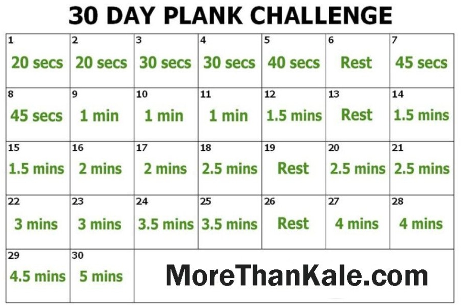 30 day plank challenge | home | Plank challenge, Fitness ...
